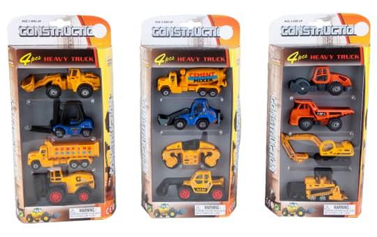 Spielset - Baufahrzeuge - Construction - 1 Stück