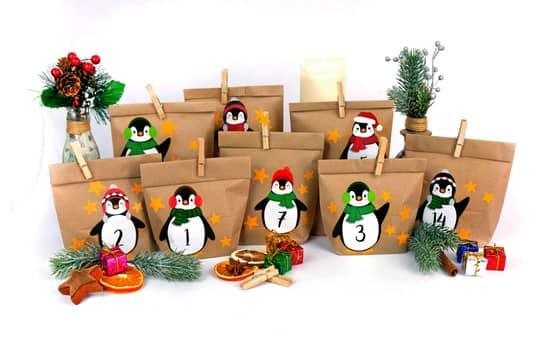 Adventskalender-Bastelset - Pinguine