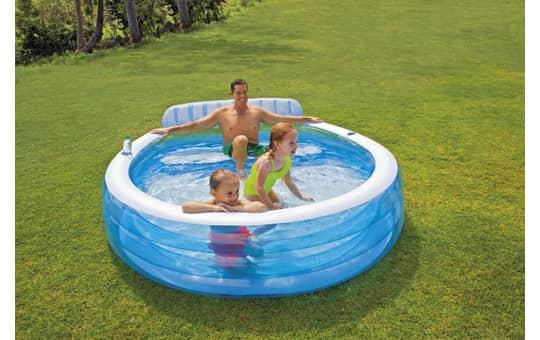 Intex Familienpool blau, Maße: 224x216x76cm