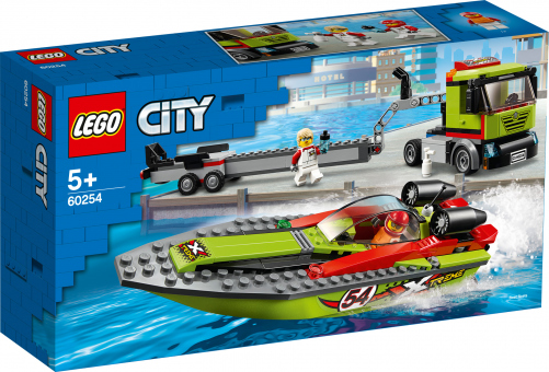 LEGO® City Great Vehicles 60254 - Rennboot-Transporter