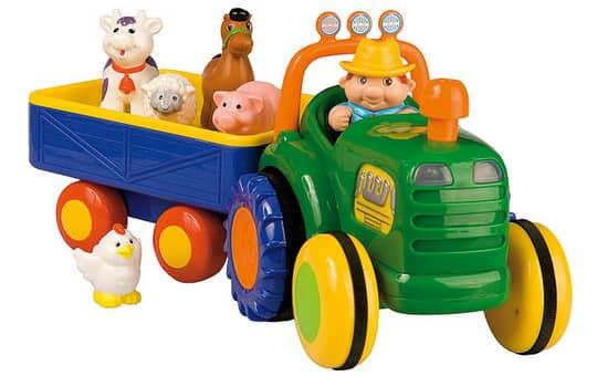 Besttoy - Traktor mit Anhänger und Bauernhof-Tieren