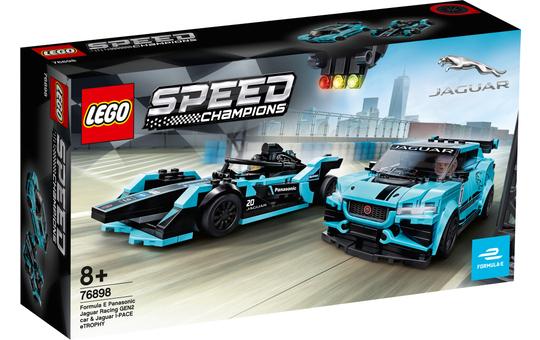LEGO® Speed Champions 76898 - Formula E Panasonic Jaguar Racing GEN2 car & Jaguar I-PACE eTROPHY