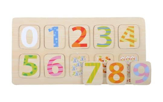 Besttoy - Holz-Puzzle - Zahlen 0-9 - 10 Teile