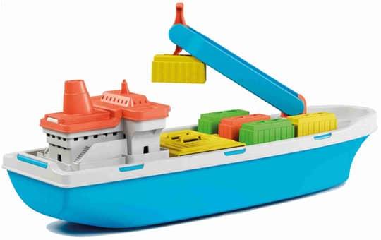 Containerschiff mit 5 Containern - ca. 40 cm