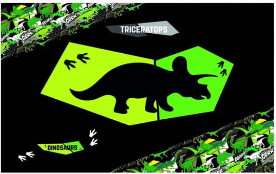 Schreibtischauflage Triceratops - grün/schwarz