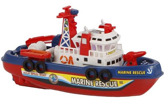 Feuerwehrboot mit Licht und Sound - ca. 27 cm