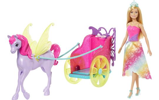 Barbie Dreamtopia - Prinzessin mit Pegasus und Kutsche