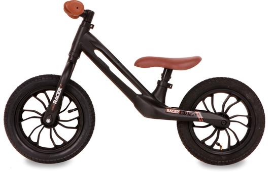 Laufrad - Racer - schwarz-braun - 12 Zoll