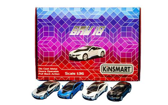 Spielzeugauto BMW i8 mit Rückzugsantrieb - 1:36 - 1 Stück
