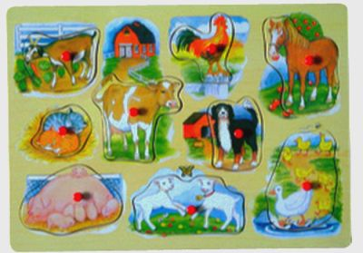 Besttoy - Holz-Puzzle - Farmtiere - 9 Teile