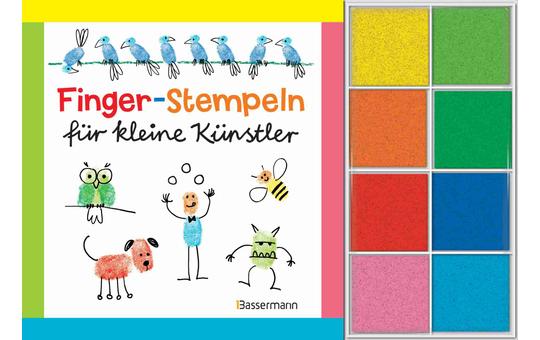 Finger-Stempeln für kleine Künstler