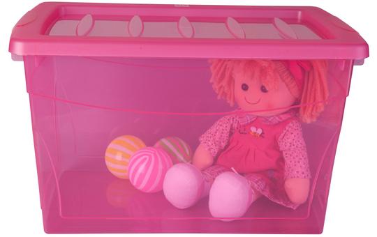 Ordnungsbox - 30 Liter - pink pink