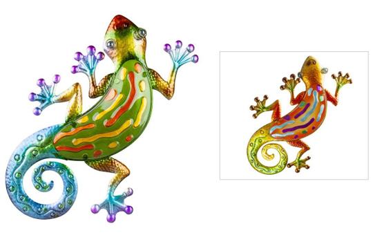 Wanddeko - Salamander - 27 x 3 x 43 cm - 1 Stück