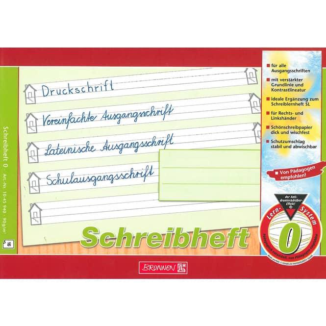 Brunnen Schreiblernheft Lin 0