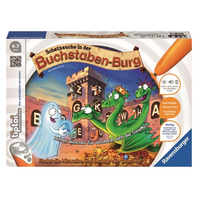 Tiptoi Spiel - Schatzsuche in der Buchstabenburg