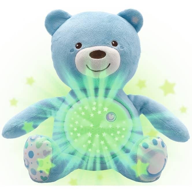 Chicco - Nachtlicht für Babys mit Musik - Bär - blau