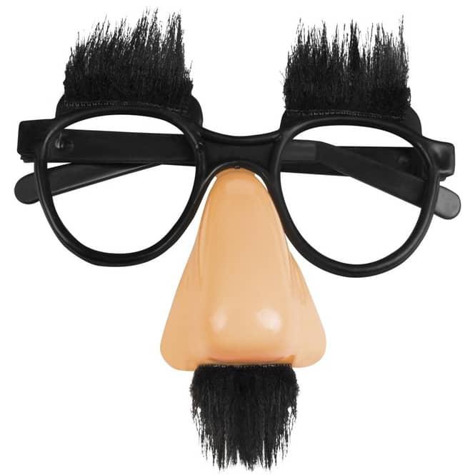Faschingsbrille - Slapstick - für Erwachsene