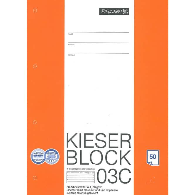Kieserblock Lineatur 3,  Nr. 03 C, 3. Klasse