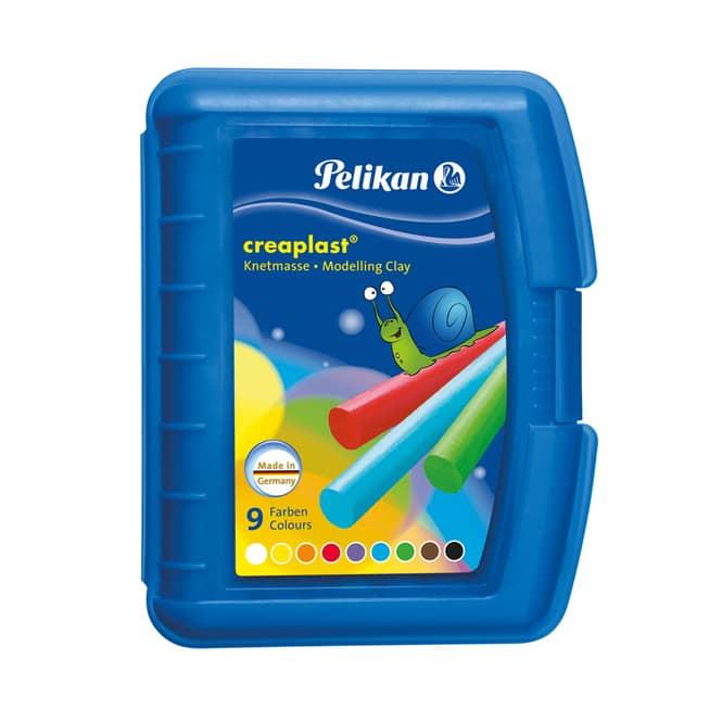 Pelikan, Knetbox Creaplast blau, 9 Stangen