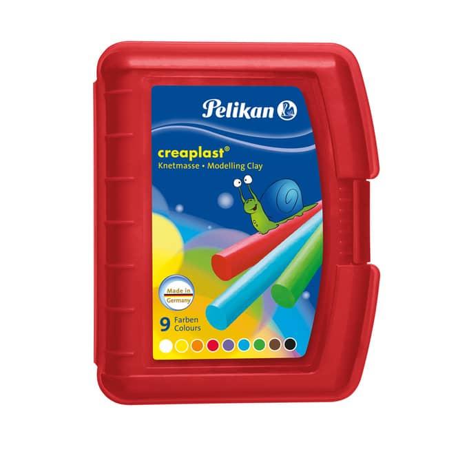 Pelikan, Knetbox Creaplast rot, 9 Stangen