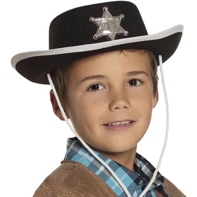 Cowboyhut - für Kinder - aus Filz - schwarz