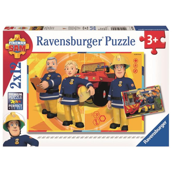 Puzzle-Box - Feuerwehrmann Sam im Einsatz - 2x 12 Teile