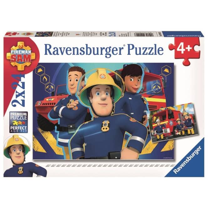 Puzzle-Box - Feuerwehrmann Sam hilft dir in der Not - 2x 24 Teile