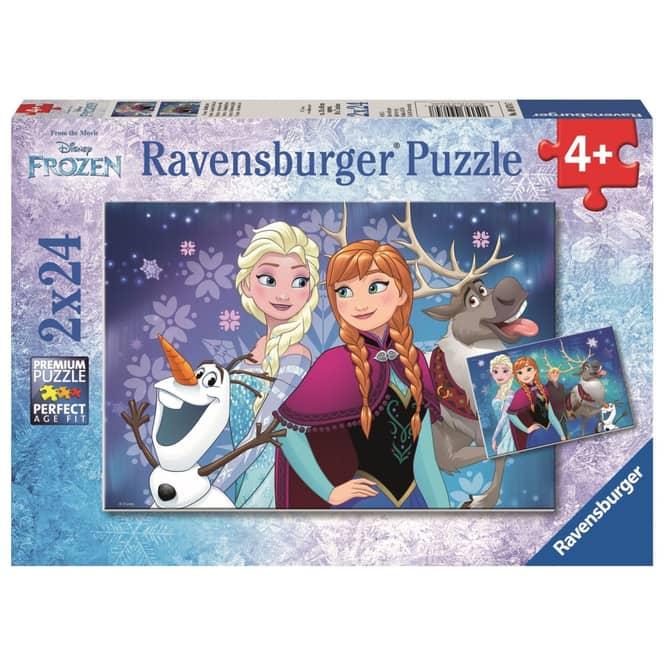 Die Eiskönigin - Puzzle-Box - Nordlichter - 2x 24 Teile