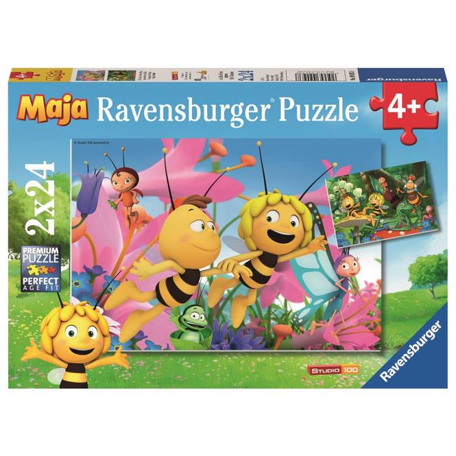 Puzzle-Box - Die kleine Biene Maja - 2x 24 Teile