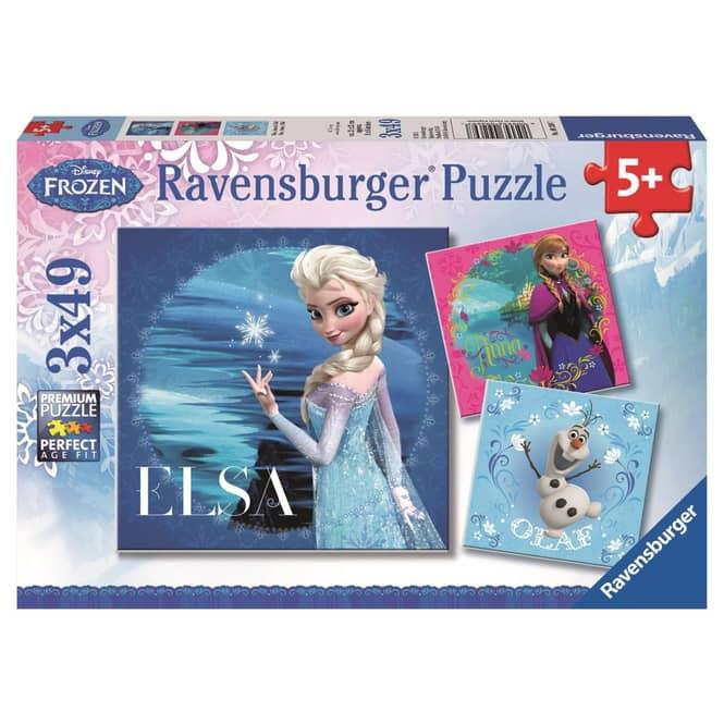 Puzzle-Box - Die Eiskönigin - Elsa, Anna & Olaf - 3x 49 Teile