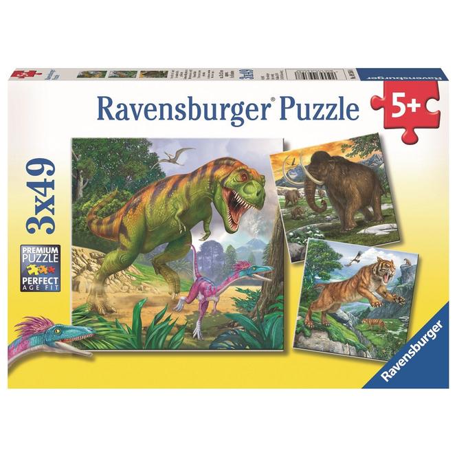 Puzzle-Box - Herrscher der Urzeit - 3x 49 Teile