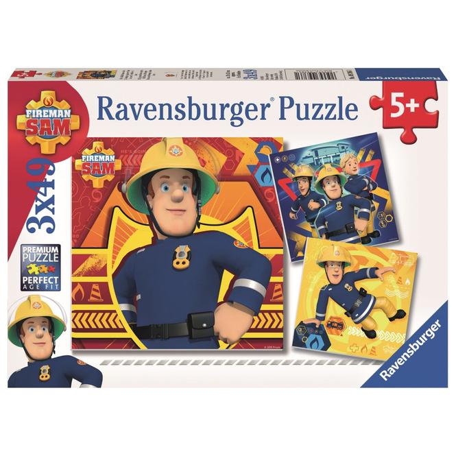 Puzzle-Box - Bei Gefahr Feuerwehrmann Sam rufen - 3x 49 Teile
