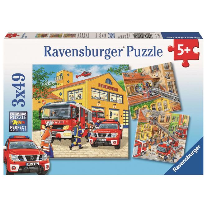 Puzzle-Box - Feuerwehreinsatz - 3x 49 Teile