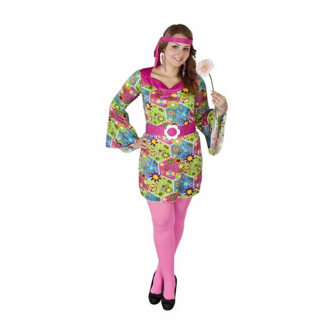 Kostüm, 3-teilig - Hippie Girl, für Erwachsene