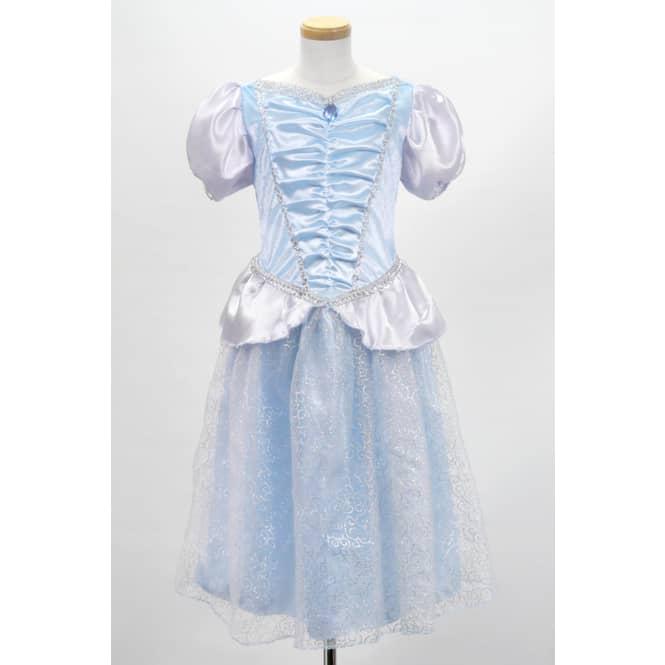 Kostüm - Prinzessin, himmelblau mit weiß und silber, für Kinder
