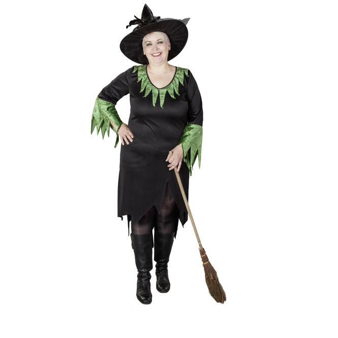 Kostüm - Märchenhexe, schwarz, für Erwachsene, in großen Größen