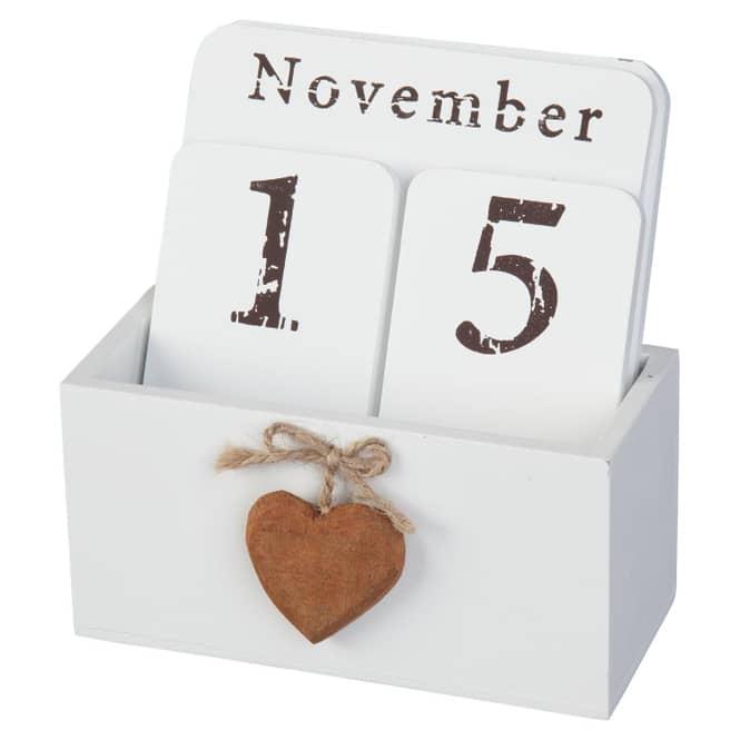 Steckkalender - aus Holz - 14x6,5x15 cm