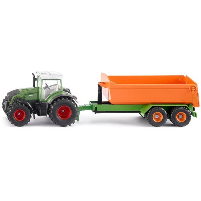 Siku Farmer 1989 - Fendt mit Hakenlift-Fahrgestell und Mulde