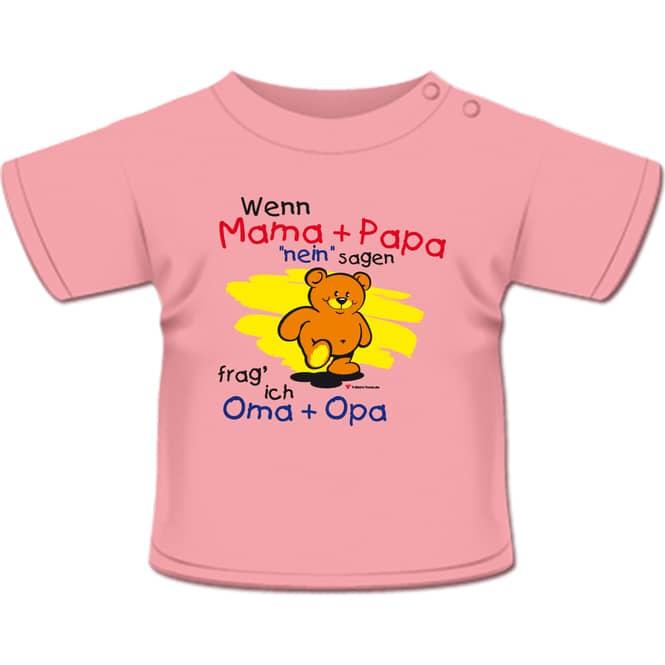 Wenn Mama und Papa nein sagen - T-Shirt rosa