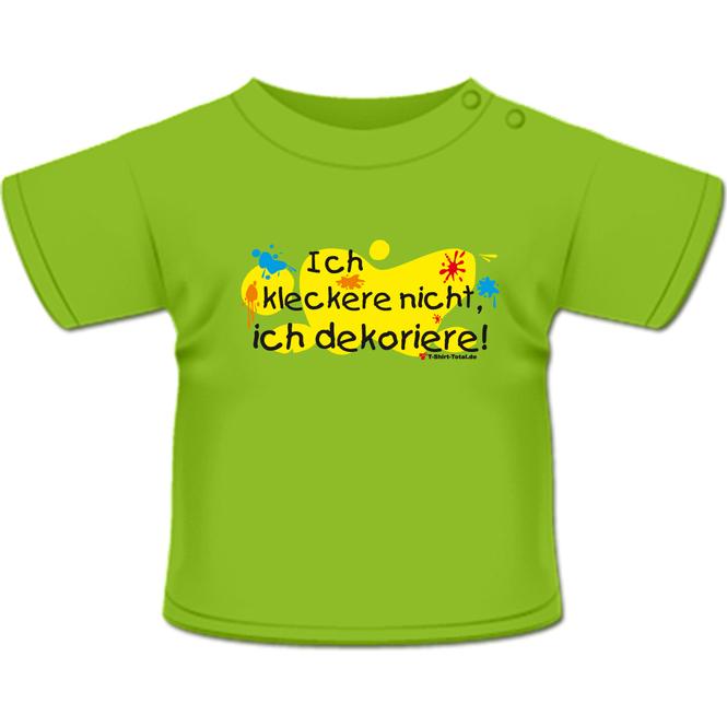 Kleckere nicht T-Shirt hellgrün
