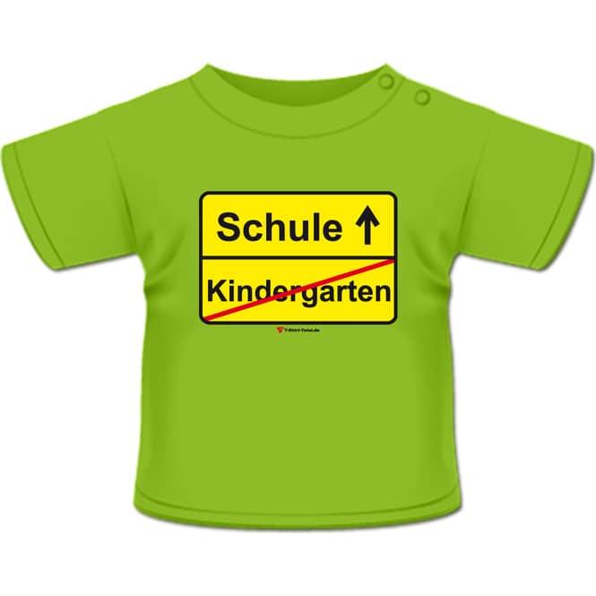 Kindergarten Schule T-Shirt hellgrün