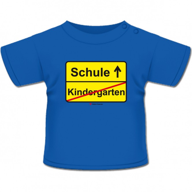 Kindergarten Schule T-Shirt royal-blau