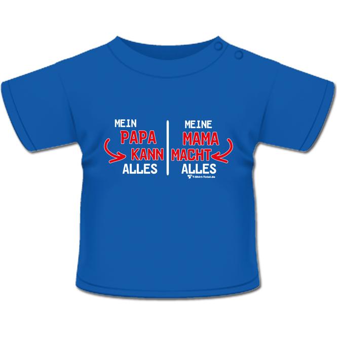 Papa kann, Mama macht T-Shirt royal-blau