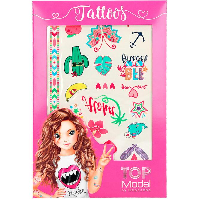 TOP Model - Metallic Tattoos