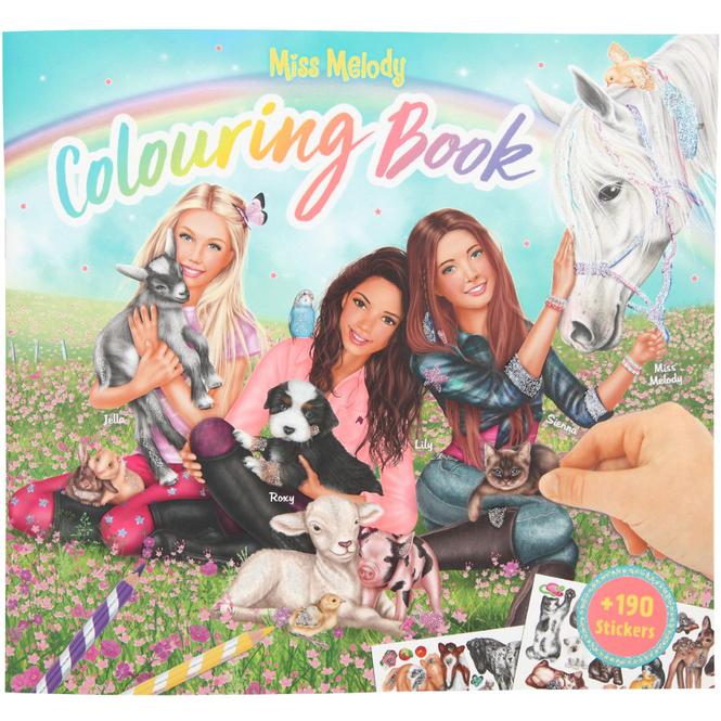Miss Melody - Malbuch - Tierkinder