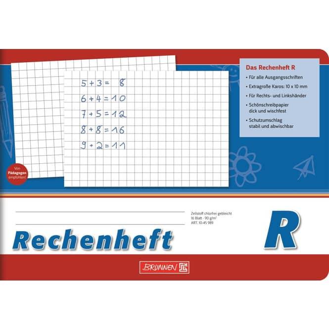 Rechenheft - DIN A5 quer - Brunnen