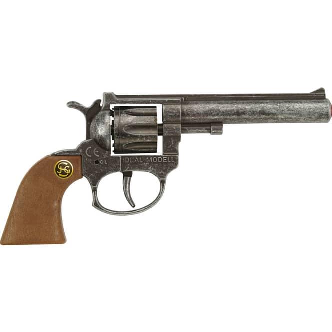8-Schuss Spielzeugpistole in Antikoptik - ca. 19cm