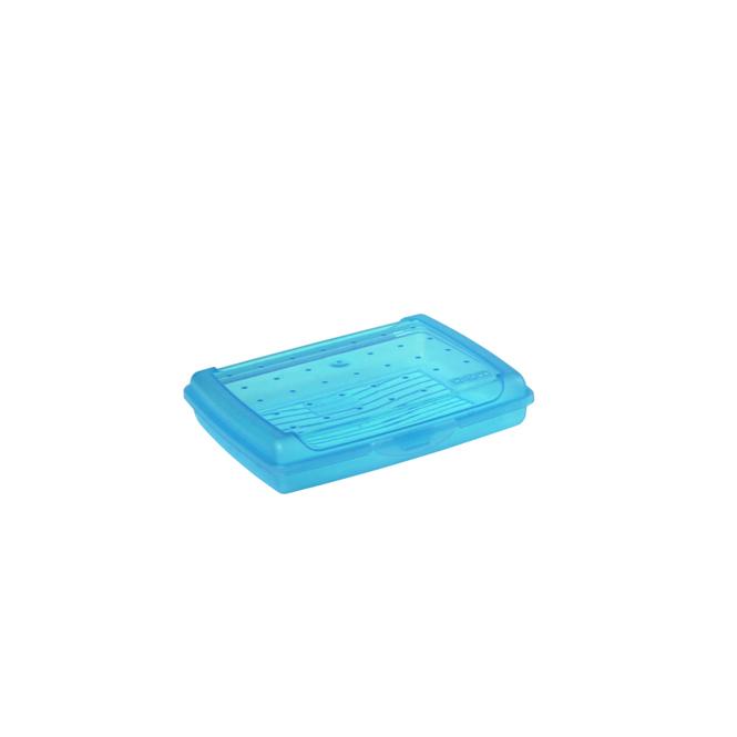 Brotdose - blau - 17 x 13 x 3,5cm