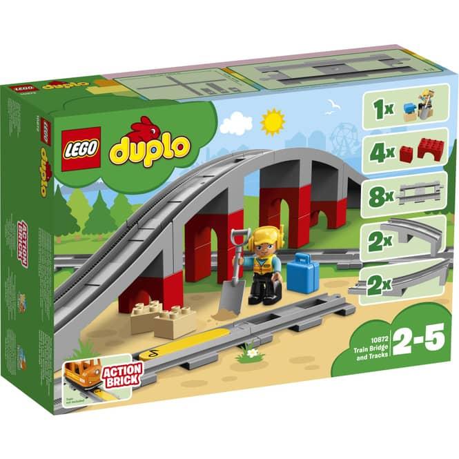 LEGO® DUPLO® Town 10872 - Eisenbahnbrücke und Schienen