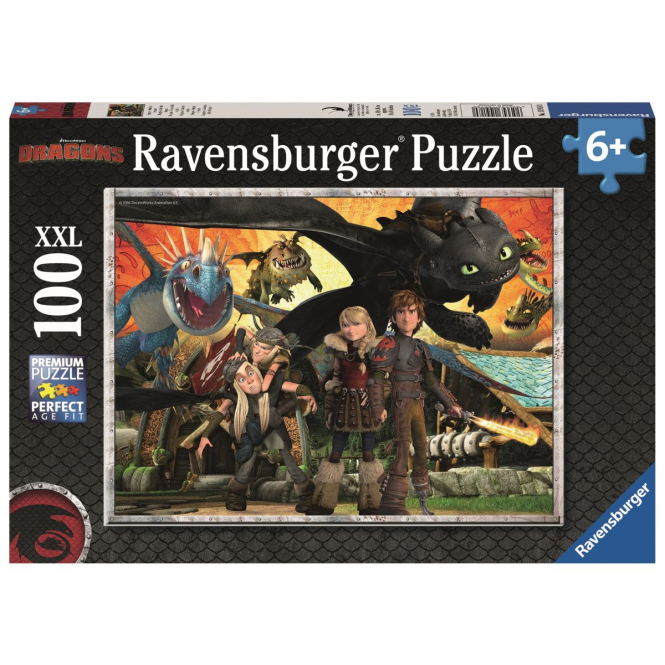Puzzle - Dragons - Drachenfreunde - 100 XXL Teile